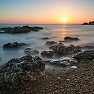 Sunrise Blast Beach - Seaham Harbour  by David Lewins