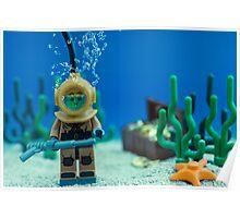 Lego Deep Sea Diver Poster