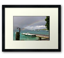 Rainbow's Boats Framed Print