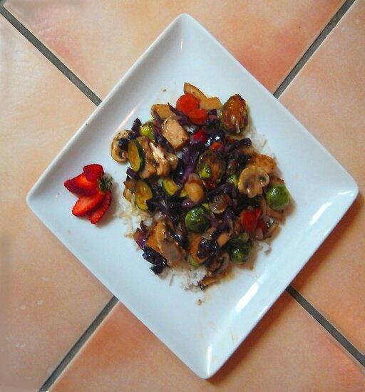 Stir-fry over rice by DAdeSimone