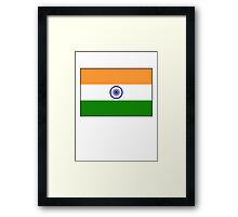 India Flag, The National flag of India, pure & simple Framed Print