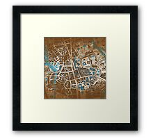 Distressed Maps: His Dark Materials Lyra's Oxford Framed Print