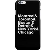 Original Six Cities iPhone Case/Skin
