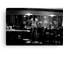 Diner Candid Canvas Print