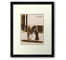 #54   A Hand In The Bucket Framed Print