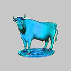 Blue bull graphic design by tanabe