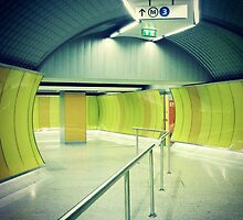 Colorful subway route by Bela Dako