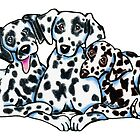 Dalmation Trio by offleashart