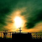 #80  Sunset With Powerlines by MyInnereyeMike