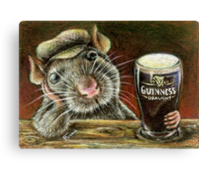 Paddy the rat Canvas Print