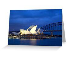 Sydney Opera House before dawn  Greeting Card