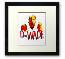 D-WADE Stencil Design Framed Print
