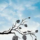 Birds on a tree branch by fantasytripp