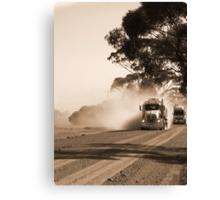 Bulldust Drive Canvas Print