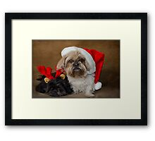 Santa I am tired  Framed Print