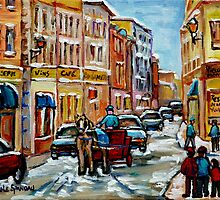 PAINTINGS OF OLD PORT MONTREAL CANADIAN ART BY CANADIAN ARTIST CAROLE SPANDAU by Carole  Spandau