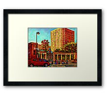 PAINTINGS OF MCGILL UNIVERSITY CANADIAN CITY SCENES BY CANADIAN ARTIST CAROLE SPANDAU Framed Print