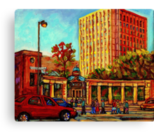 PAINTINGS OF MCGILL UNIVERSITY CANADIAN CITY SCENES BY CANADIAN ARTIST CAROLE SPANDAU Canvas Print