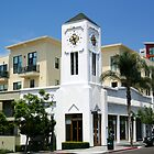 Clock building in Little Italy, San Diego by Elizabeth Heath