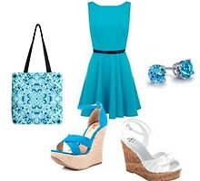 Dress, shoes, bag and earings by FireFairy