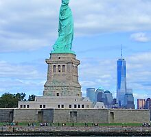 The Statue of Liberty and the World Trade Center by Lev7