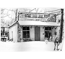 Rabbit Hash Iron Works B&W Poster
