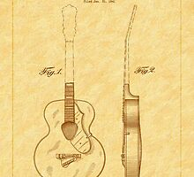 Gretch Guitar 1941 Patent by Barry  Jones