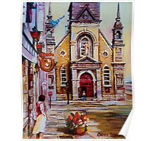 CANADIAN URBAN PAINTINGS MONTREAL SCENES BY CANADIAN ARTIST CAROLE SPANDAU Poster