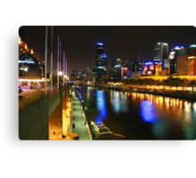 One night in Melbourne Canvas Print
