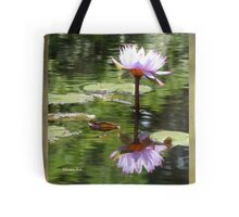 Water Lily Mirrored in the Pond Tote Bag