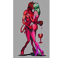 Erotic art hot sex in brillant vibrant colours Photographic Print