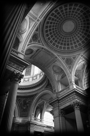 Pantheon Dome, Paris by liquidluma