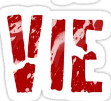 La Vie Boheme - Rent - Red Typography design Sticker