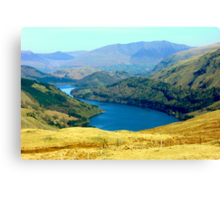 Thirlmere from Steel Fell Canvas Print
