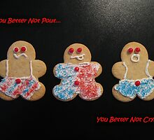 You Better Not Pout Holiday Card by Pamela Burger