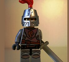 Lion Knight Minifigure, Armor with Lion Head and Belt by Chillee
