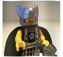 Captain Vortex in Black & Silver Costume and Cape Poster
