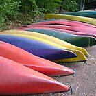 Canoes by Robert Lake