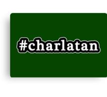 Charlatan - Hashtag - Black & White Canvas Print