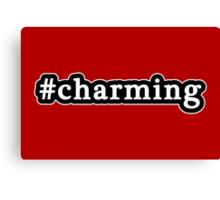 Charming - Hashtag - Black & White Canvas Print