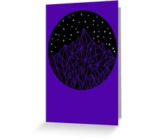 Crystal Mountains Greeting Card