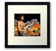 Rambo. Against the world. Framed Print