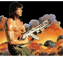 Rambo. Against the world. Photographic Print