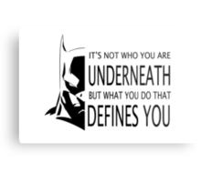 Batman Defined Metal Print