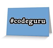 Code Guru - Hashtag - Black & White Greeting Card