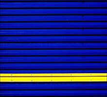 Stripe - Yellow on Blue by PaulBradley