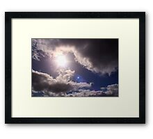 God Bowling Framed Print