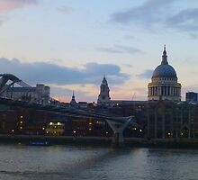 St. Paul's Cathedral and the Millenium Bridge - London, England by pieandcoffee