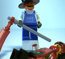 Scary Halloween Scarecrow Custom Minifig by Chillee