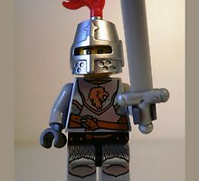 Lion Knight Minifigure with Armor Lion Head and Belt by Chillee